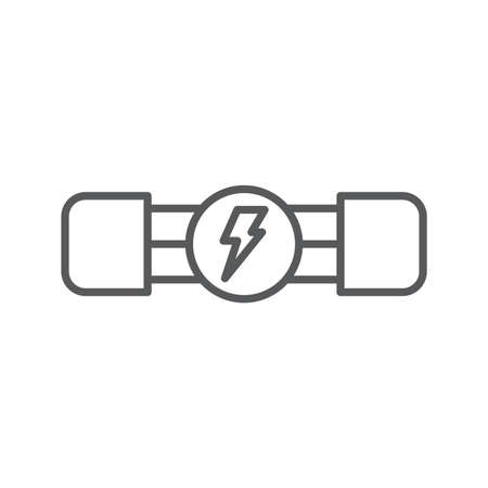 Electric fuse vector icon symbol electronic isolated on white background