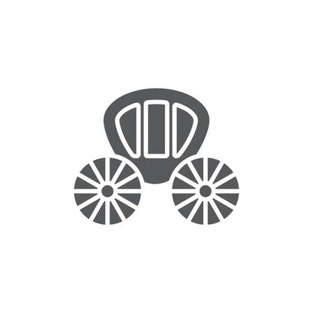 Wedding carriage vector icon symbol isolated on white background 向量圖像