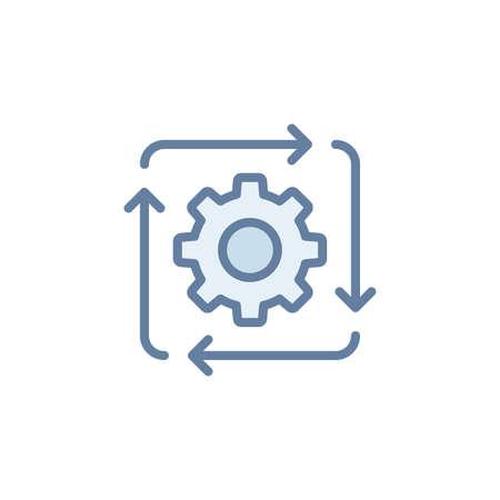 Work flow vector icon symbol isolated on white background Vektorové ilustrace