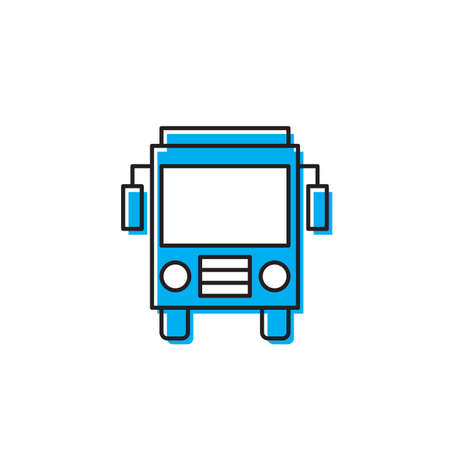 Bus front view icon, isolated on white background 版權商用圖片 - 157098085