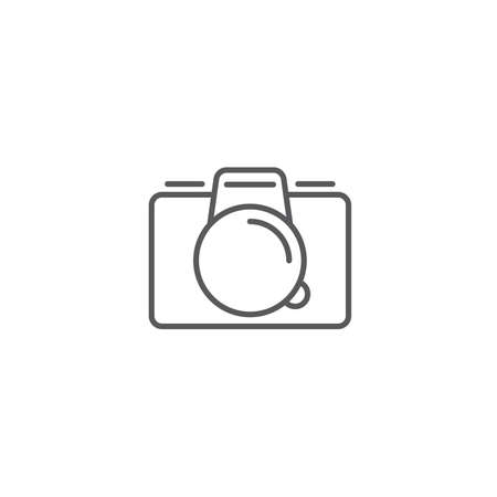 Camera flat vector icon, isolated on white background