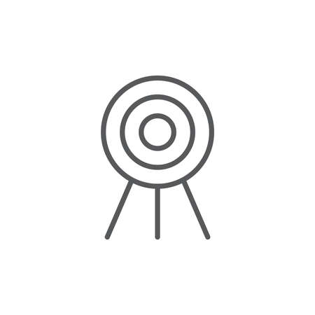 target flat vector icon concept, isolated on white background 일러스트