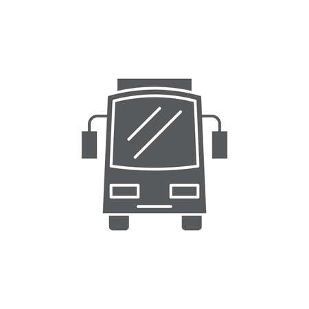 Bus front view icon, isolated on white background 向量圖像