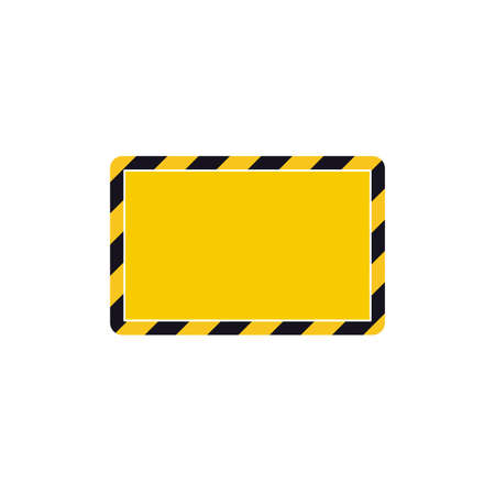 Vector hazard frame. Caution frame with black and yellow stripes 矢量图像