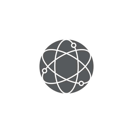 atom vector icon concept, isolated on white background Illustration