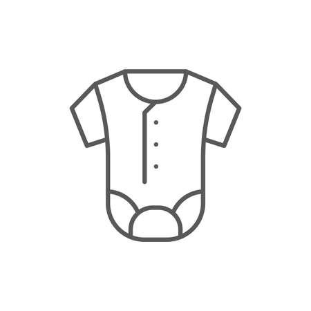 Baby romper vector icon symbol clothes isolated on white background Vektorgrafik