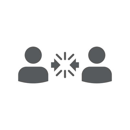 Conflict Resolution vector icon symbol isolated on white background
