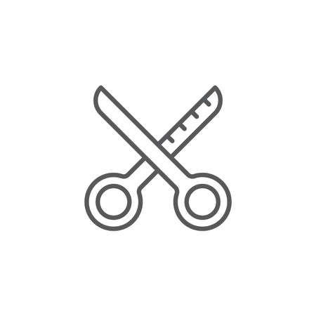 Barber shop equipment vector icon symbol tools isolated on white background