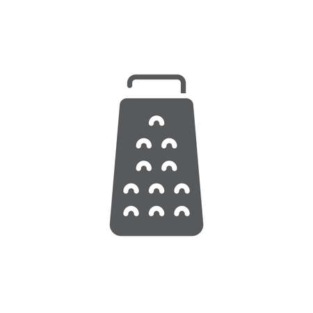 Kitchen grater vector icon symbol isolated on white background