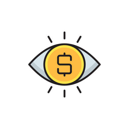 Money viewer vector icon symbol isolated on white background