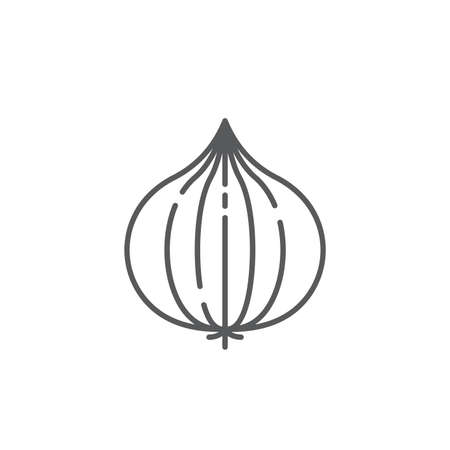 Onion vector icon symbol isolated on white background 向量圖像