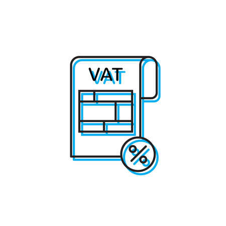 Tax or vat form icon isolated on white background Illustration