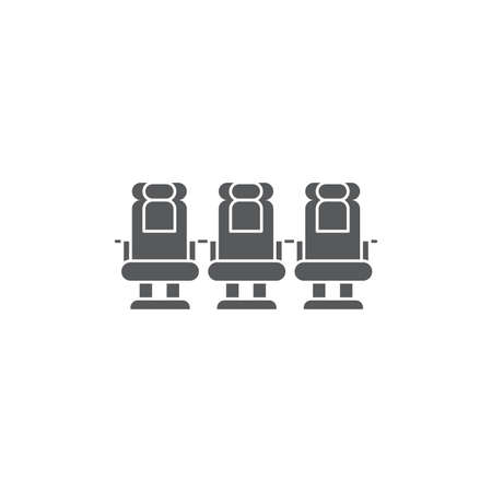 Airplane seats vector icon symbol isolated on white background Illustration