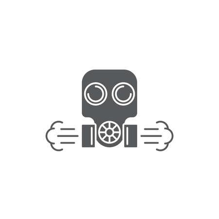 Gas mask vector icon symbol isolated on white background 向量圖像