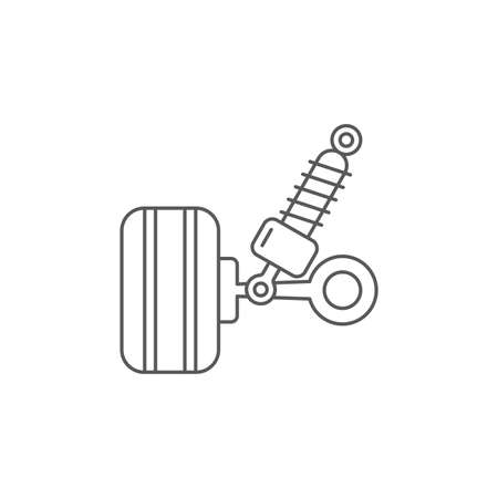 car suspension vector icon concept, design isolated on white background Vettoriali