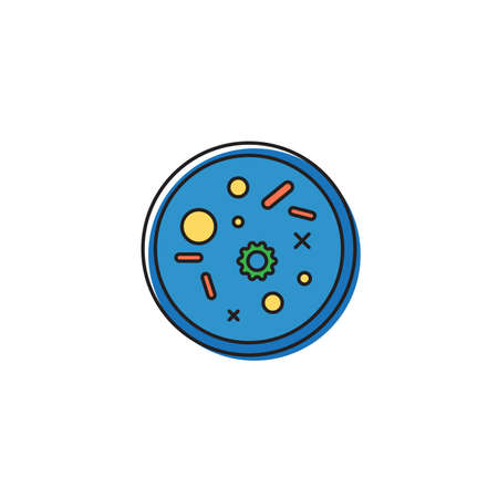 petri dish vector icon concept, isolated on white background Vectores