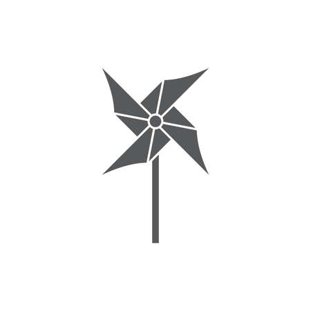 Paper Windmill Pinwheel vector icon, isolated on white background