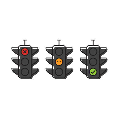 traffic light vector icon concept design isolated on white background