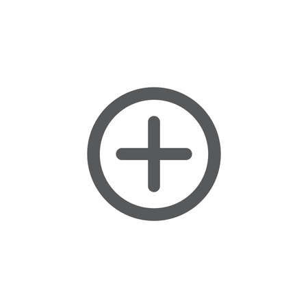 plus, add button vector icon concept, isolated on white background