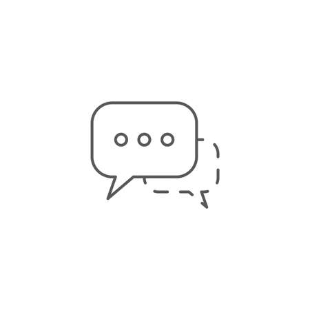 speech bubbles vector icon concept, isolated on white background