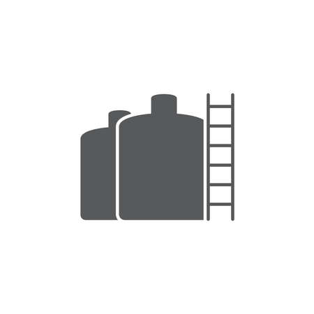storage tank vector icon concept, isolated on white background