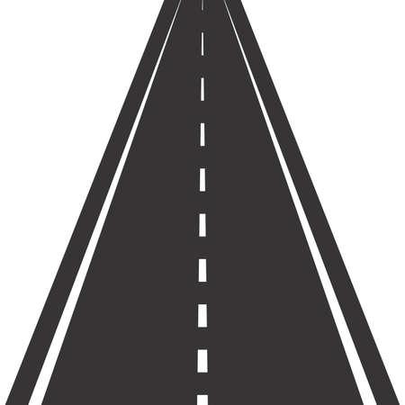 Road with markings. Straight asphalt road in perspective Reklamní fotografie