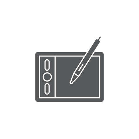 Pen tablet digitizer vector icon, isolated on white background
