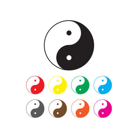 yin yang vector icon concept, isolated on white background