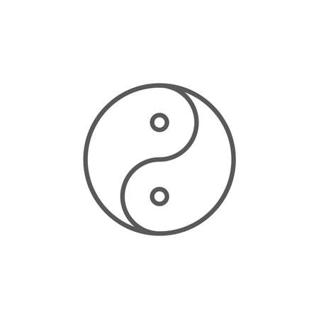 yin yang vector icon concept, isolated on white background 免版税图像 - 156951918