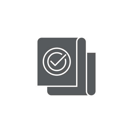 Approved document file vector icon isolated on white background 向量圖像