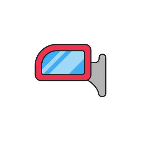 Car rear view mirror vector icon symbol isolated on white background