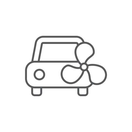 Car ventilation system vector icon symbol isolated on white background