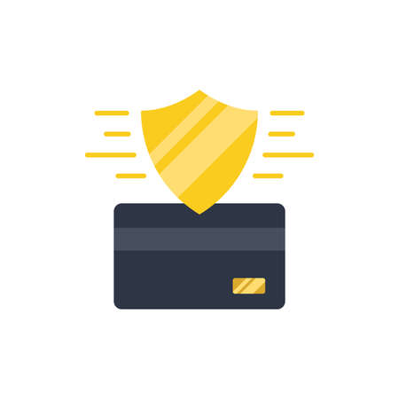 Credit Card Security vector icon symbol isolated on white background