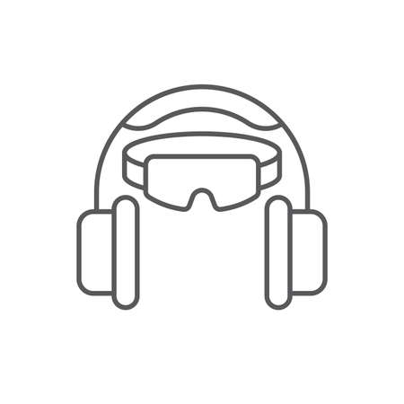 Ear and eye protection vector icon symbol isolated on white background Vektorgrafik