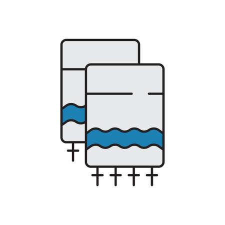 Hebrew Tallit vector icon symbol isolated on white background Vektorové ilustrace