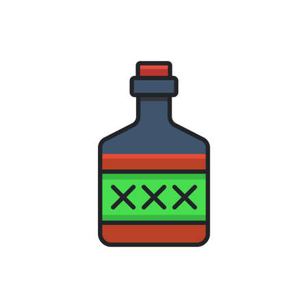 Poison bottle vector icon symbol isolated on white background