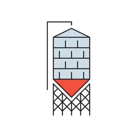 Silo vector icon symbol storage isolated on white background