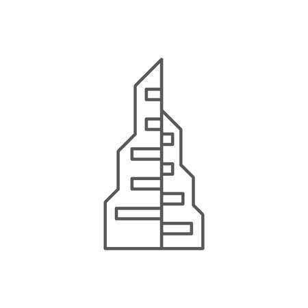 Skyscraper building construction vector icon isolated on white background