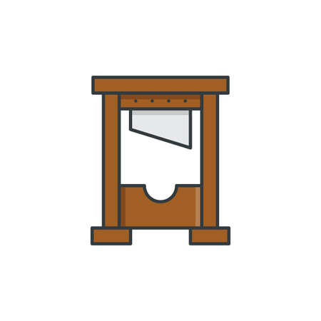 Guillotine vector icon symbol isolated on white background