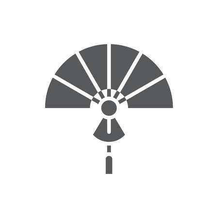 Folding Fan vector icon symbol isolated on white background Çizim