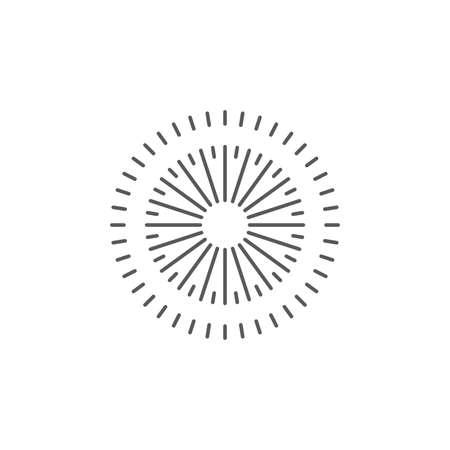 Sparkle Firework vector icon symbol isolated on white background 向量圖像