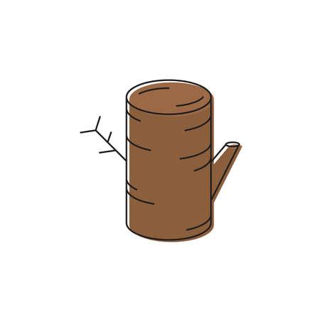 Tree stump vector icon symbol isolated on white background