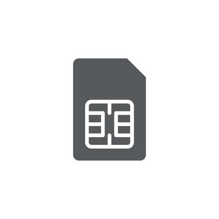 sim card vector icon concept, isolated on white background Illustration