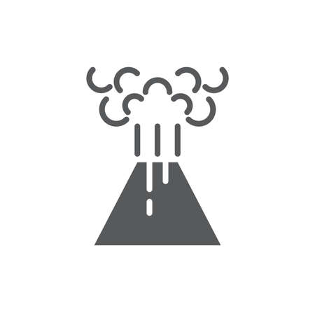 Volcano eruption vector icon symbol disaster isolated on white background