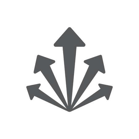 Arrow set icon. Arrow symbols. Arrow isolated vector graphic elements.