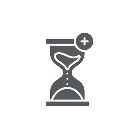 Extra hour, extra time color, line, outline vector sign, linear style pictogram isolated on white. Symbol, logo illustration Logos