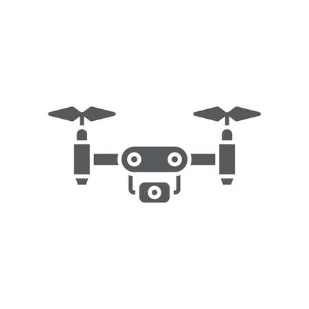drone color, line, outline vector sign, linear style pictogram isolated on white. Symbol, logo illustration 向量圖像