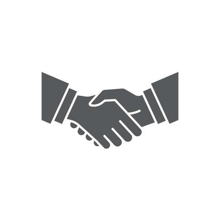 Business handshake icon, color, line, outline vector sign, linear style pictogram isolated on white. Symbol, logo illustration.