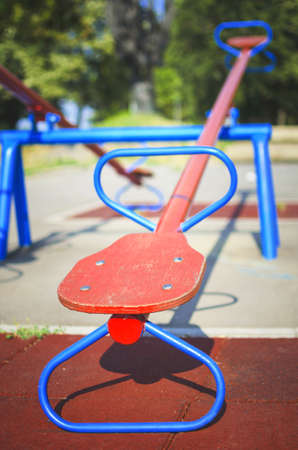 teeter: Old teeter on playground