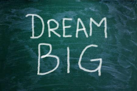 yourself: Dream Big words on chalkboard background